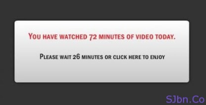 MEGAVIDEO - You Have Watched 72 Minutes Of Video Today.