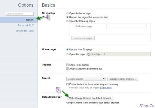 Chrome - Basics -- Default Browser -- Make Google Chrome my default browser