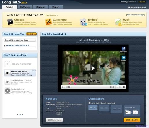 LongTail.tv Dashboard