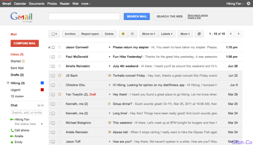 Gmail Preview and Preview (Dense) themes