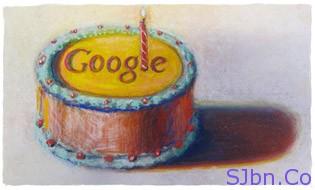 Google's 12th Birthday - by Wayne Thiebaud. Image used with permission of VAGA NY