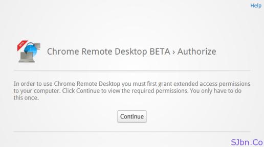 Chrome Remote Desktop BETA › Authorize
