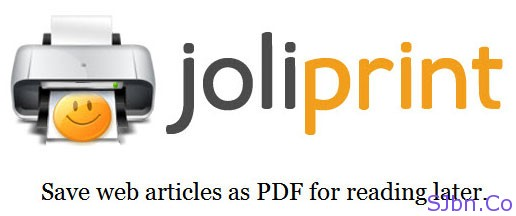 JoliPrint - Save web articles as PDF for reading later