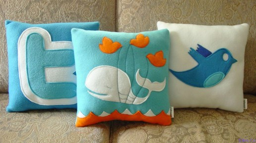 Twitter Fail Whale Bird Pillows