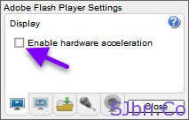Enable hardware acceleration