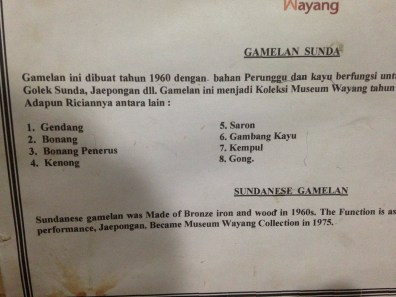 List of musical instruments for Gamelan