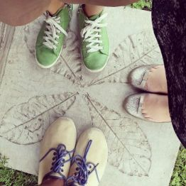 Our feet on pavement