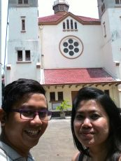 This old church is our last spot on our Pasar Baru route.