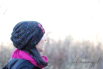 czapka na drutach moja i made by me
