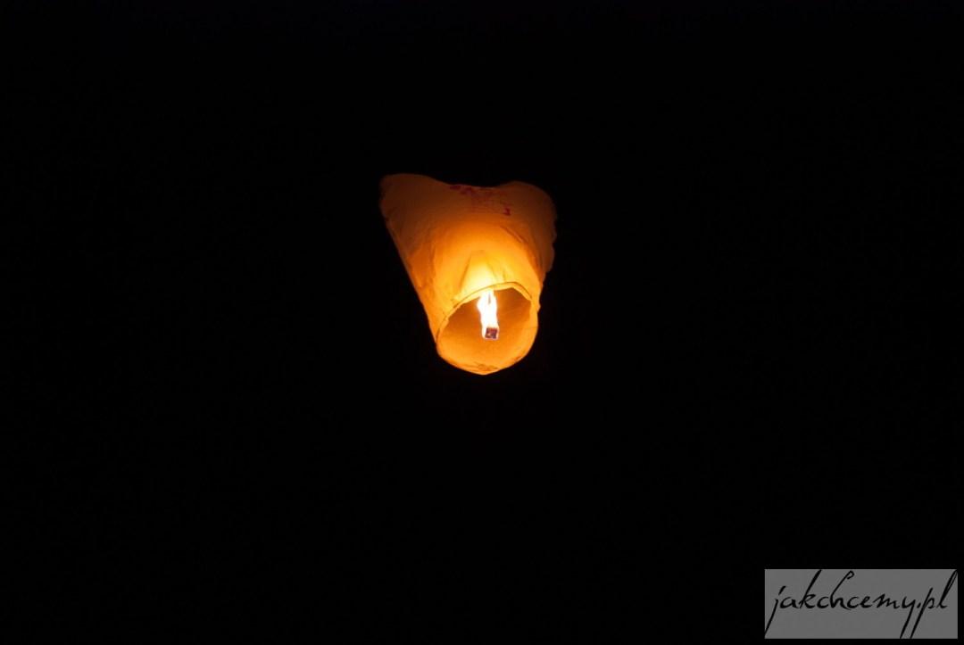 Lampion lecący do góry