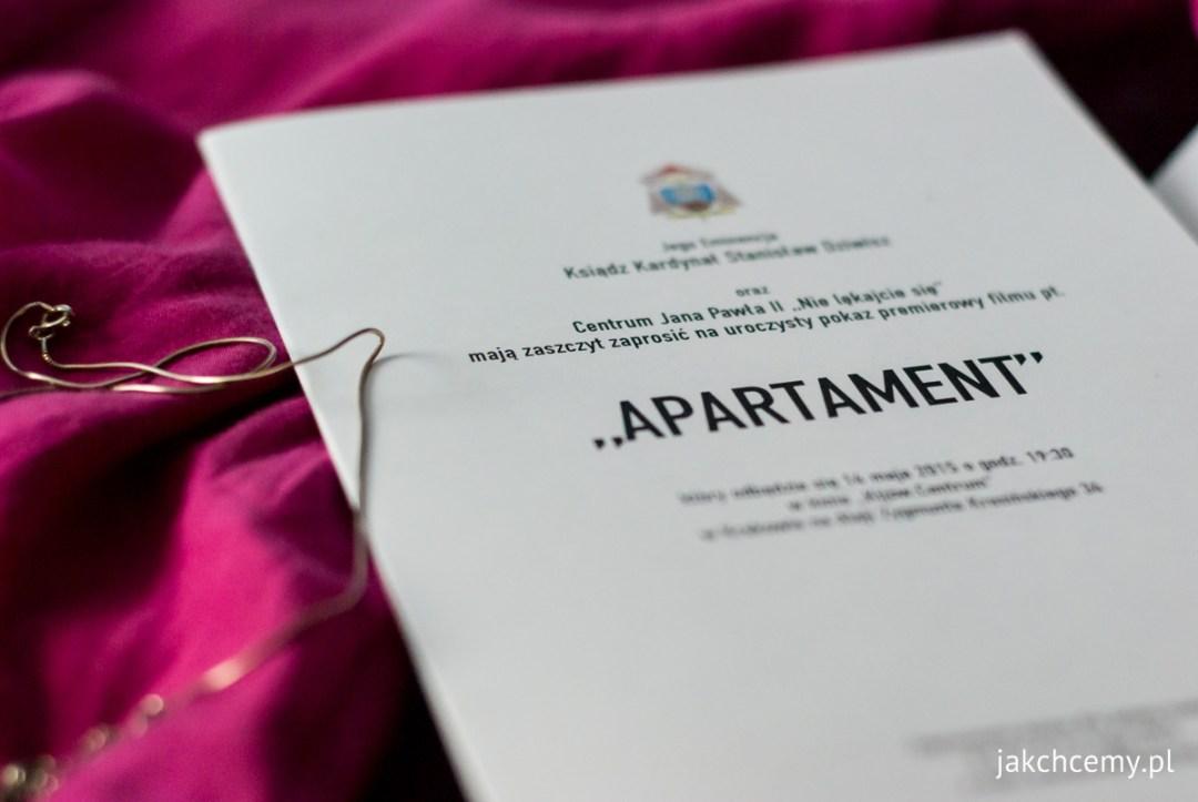 Apartament premiera zaproszenia