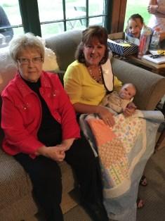 Great Grandma Bev (Jackie's Mom) and Jackie