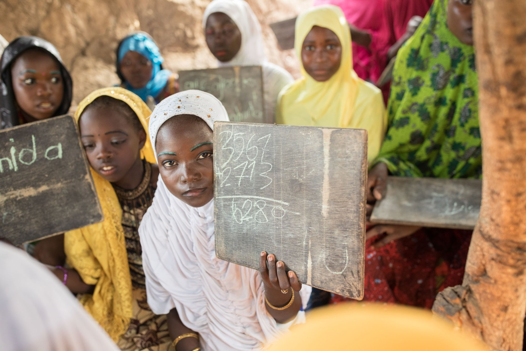 Girls attend a functional literacy course in Tahoua Region, Niger.