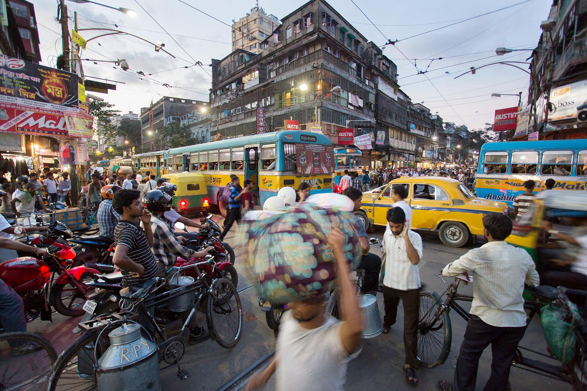 Calcutta traffic jam