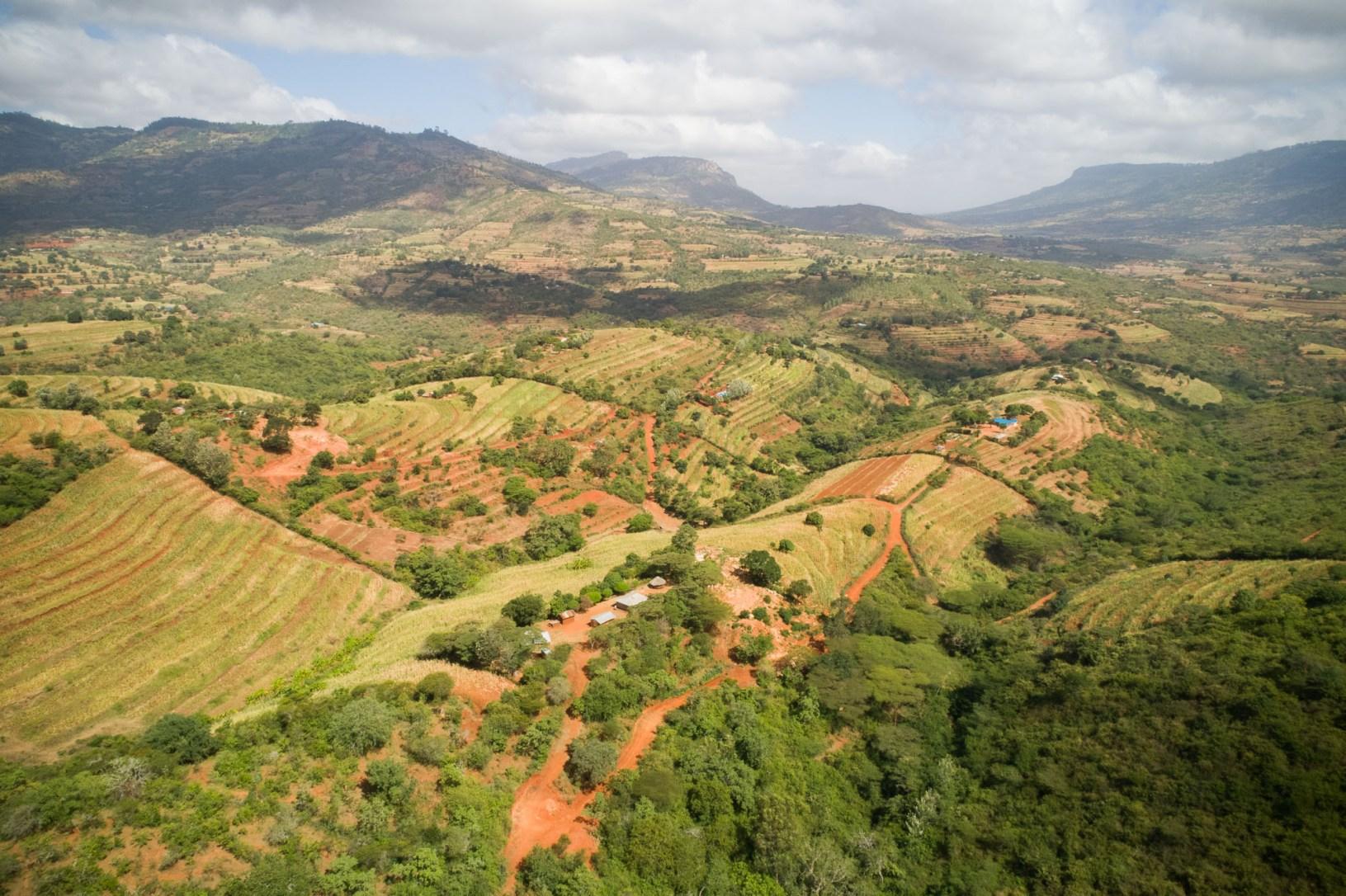Makueni County, Kenya is home to rolling hills and arid farmland.