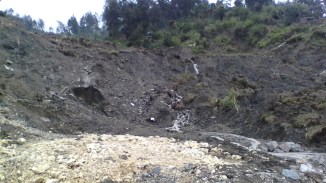 Water which is divered under the road. This the main cause of the road works turmoil