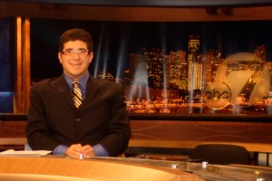 Jacob Elyachar at the 7 News Desk ABC KMGH-TV