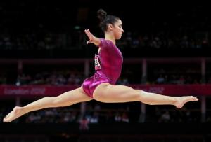 Olympian Aly Raisman will trade the gym floor for the ballroom as she teams up with Mark Ballas for this upcoming season.  (Photo property of Getty Images' Streeter Lecka)