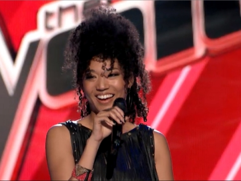 "Judith Hill stole the Blind Auditions round with her impressive cover of Christina Aguilera's ""What A Girl Wants."" (Photo property of NBC)"