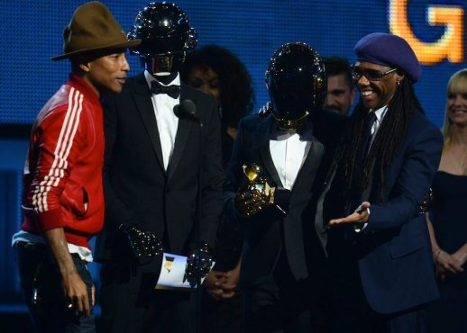 Daft Punk, Pharrell Williams & Nile Rodgers teamed up with Stevie Wonder for an outstanding medley. (Photo property of the Recording Academy)