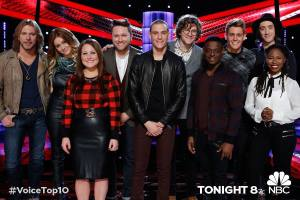 "Taylor Swift takes over ""The Voice: Season Seven"" Top 10 Results Show!"