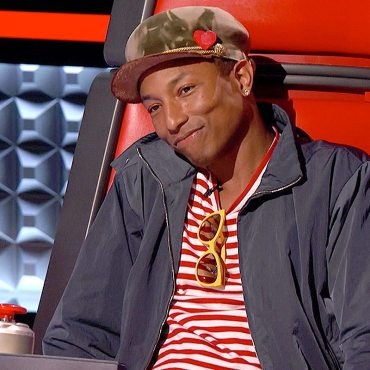 All eyes were on Pharrell tonight as he had the last steal that could be used during the Battle Rounds. (Photo property of NBC & United Artists Media Group)
