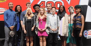 American Idol XIV Top 11 sing the National Anthem
