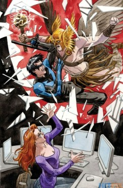 Nightwing and Oracle vs. Hawkman