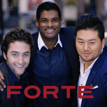 "The Forte Tenors' Josh Page (left) visited ""Jake's Take"" and talked about the latest incarnation of the opera trio's Pledge Music campaign. (Photo property of the Forte Tenors)"
