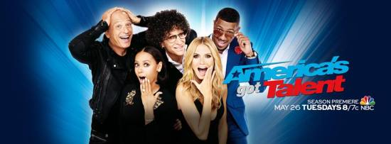 "Howie Mandel, Howard Stern, Mel B, Heidi Klum and Nick Cannon will celebrate the tenth anniversary season of ""America's Got Talent"" when the show returns on Tuesday. (Photo property of NBC)"