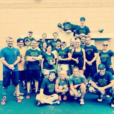 Jacob and his CrossFit 913 family