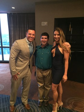 Jacob with WBFF Pros Micah & Diana Lacerte
