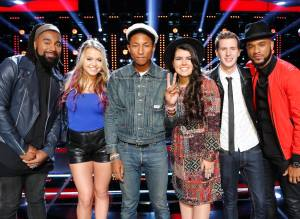 "Team Blake and Team Pharrell duel in Night Two of ""The Voice: Season Nine"" Playoffs"