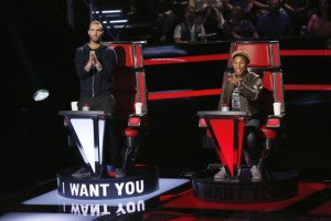 Adam Levine and Pharrell Williams The Voice