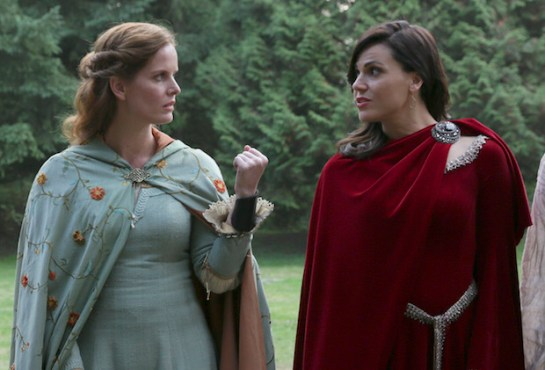 "Regina & Zelena's sibling rivalry came to a head tonight on ""Once Upon A Time."" (Photo property of ABC's Jack Rowand)"
