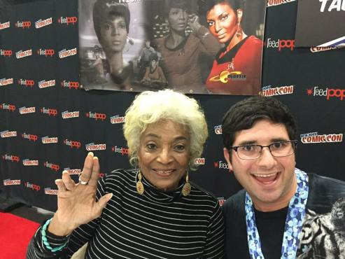 The lovely Nichelle Nichols and I. (Photo property of Jake's Take)