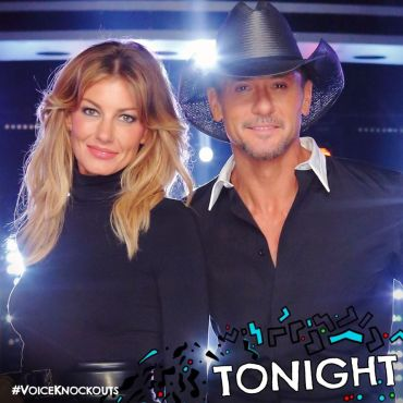 "Country icons Faith Hill & Tim McGraw join ""The Voice"" as the Season 11 Knockout Rounds' key advisors. (Photo property of NBC)"