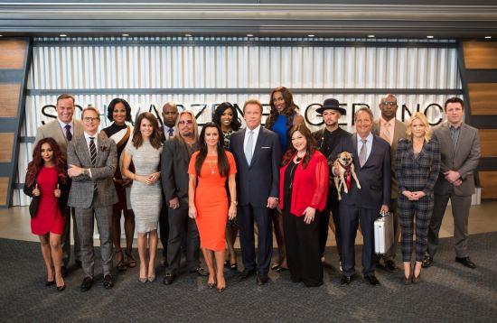 The New Celebrity Apprentice cast & Arnold Schwarzenegger