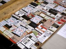 Various GrandTen labels. GrandTen labels all of their own products by hand.