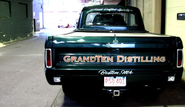The GrandTen Truck, sitting in the parking lot.