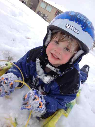 sledding, winter activity