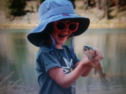 fun, fishing, kid, fish, trout