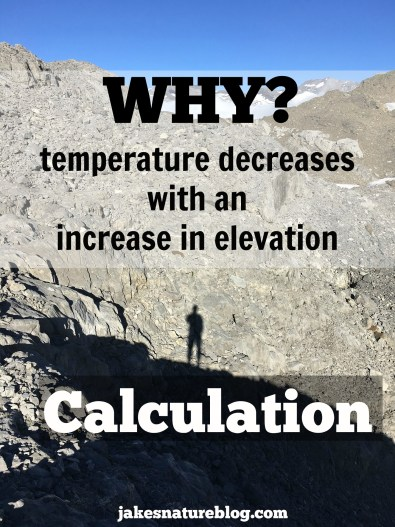 temperature decrease with elevation gain