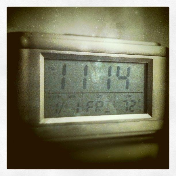 My bedside clock