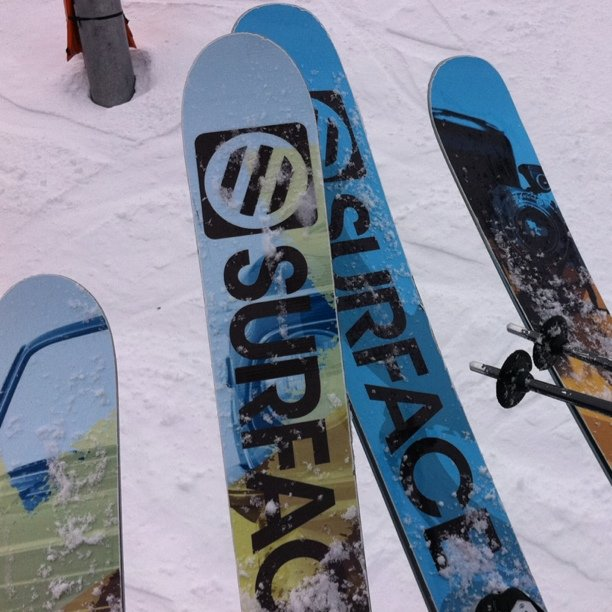 Trying out some Surface Skis.