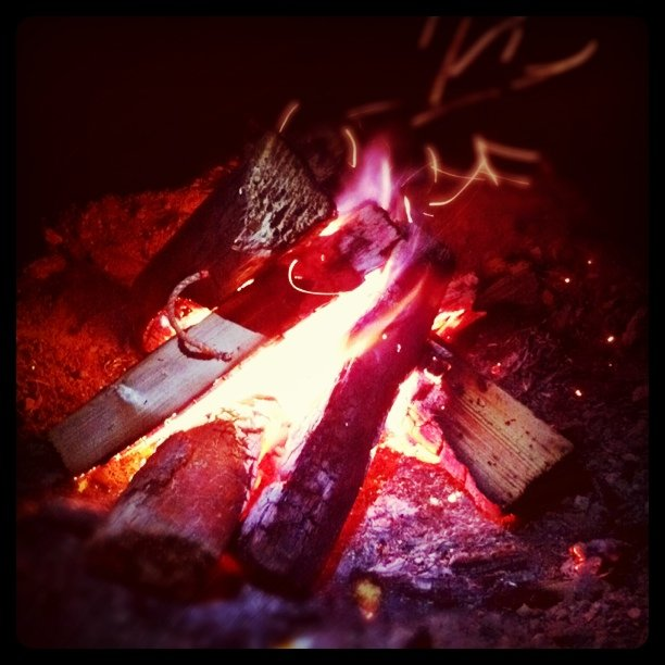 Campfire at Five Mile Pass. I love Scouting
