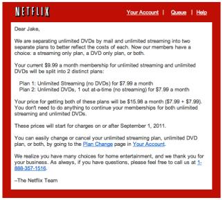 Just canceled DVDs on Netflix