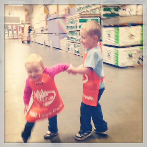 This is as good as we could get at Home Depot this morning. Suffice to say, they were both pretty cute.