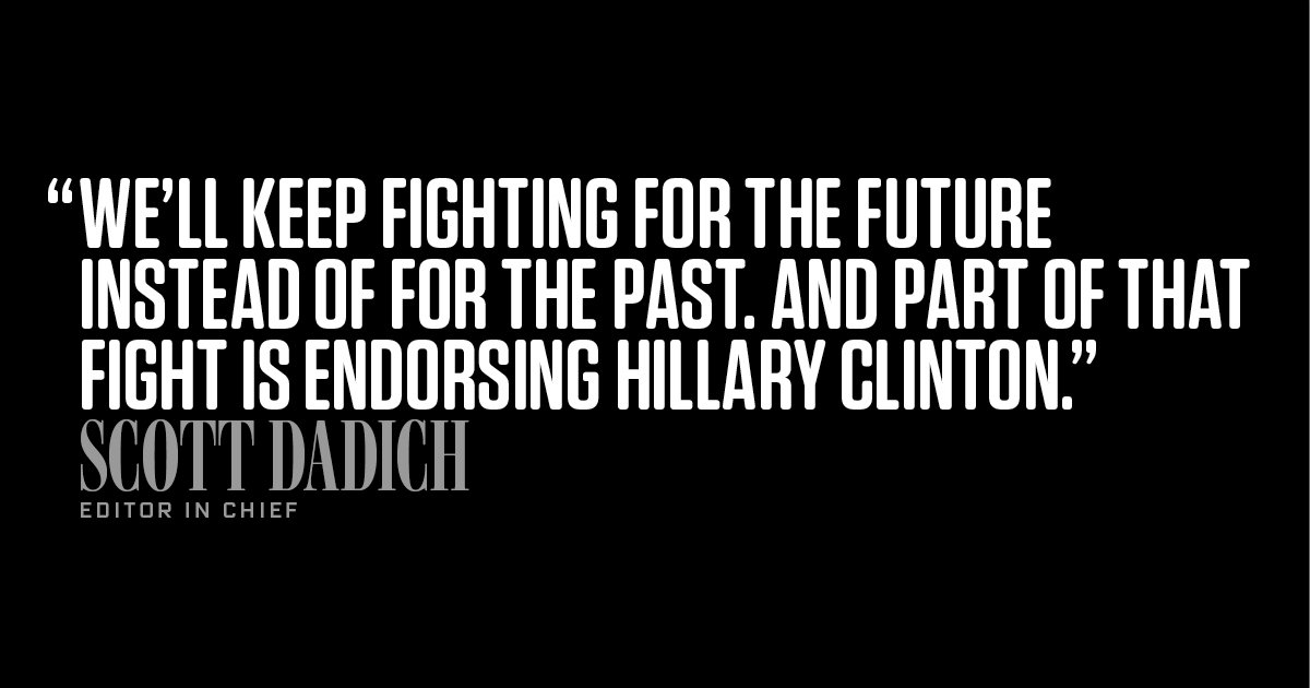 RT @WIRED: .@HillaryClinton is the…