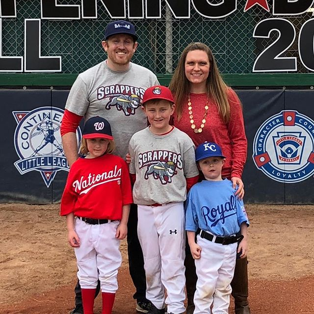 Opening Day! Gunna be busy this year! Three kids, three divisions!